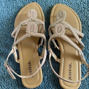 Brand new Just Fab Sandals Never Worn